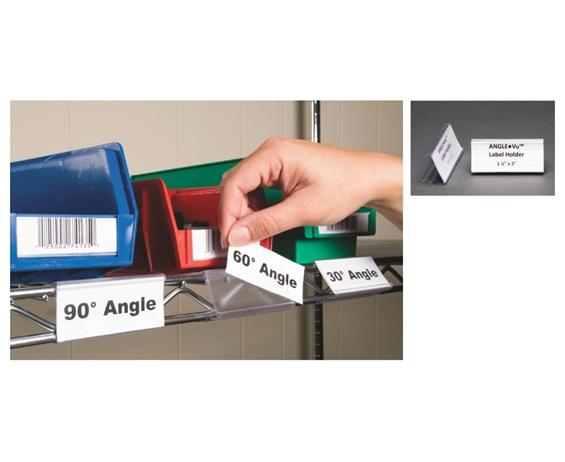 WIRE-RAC ANGLE-VU LABEL HOLDERS
