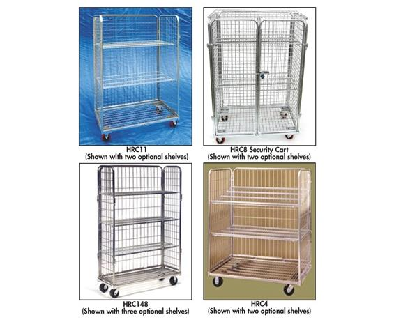 OPTIONAL SHELVES FOR WIRE ROLL CARTS