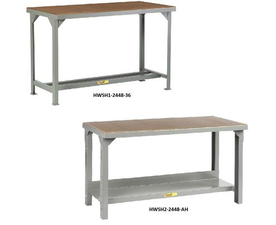 ALL-WELDED STEEL WORKBENCHES WITH HARDBOARD TOP