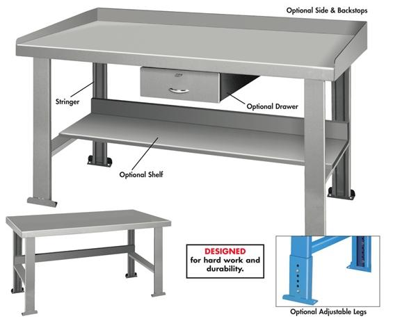 INDUSTRIAL WORK BENCHES - SHELF
