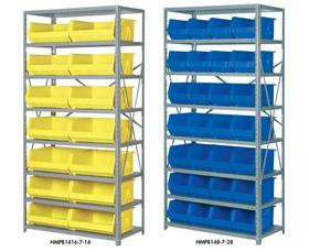 SHELF SYSTEMS WITH HOPPER FRONTS