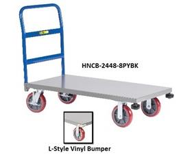 ALL-WELDED PLATFORM TRUCK WITH CORNER BUMPERS