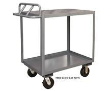 ROLLING STOCK CART WITH ERGONOMIC HANDLE